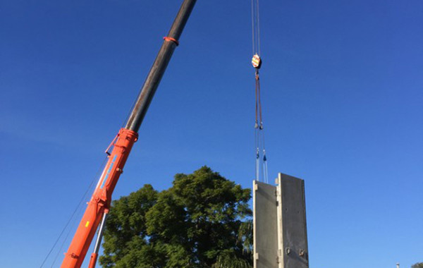Structural Steel and Precast Panel Erection
