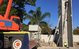 Structural Steel and Precast Panel Erection2