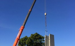 Structural Steel and Precast Panel Erection4