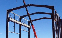 Structural Steel and Precast Panel Erection7
