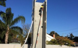 Structural Steel and Precast Panel Erection9